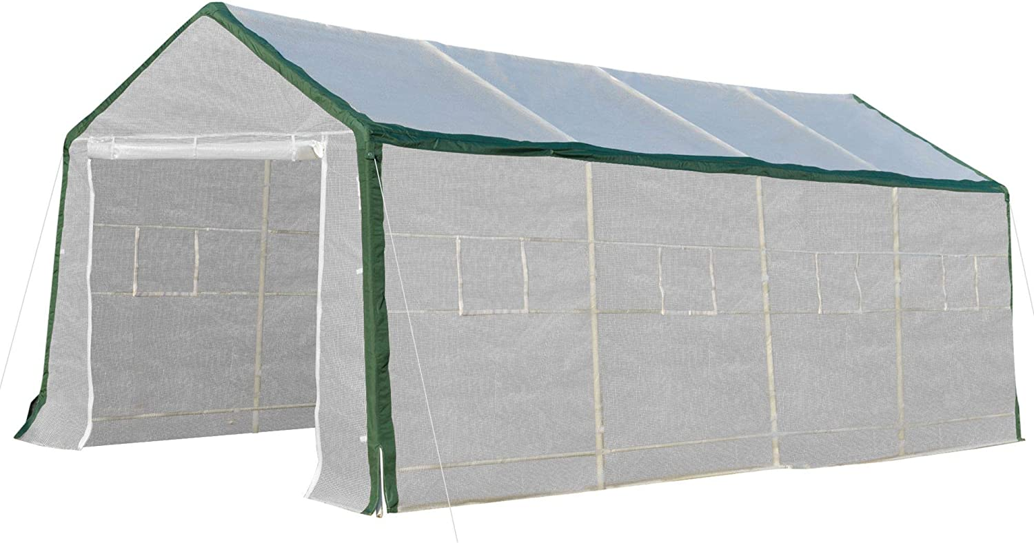 Outsunny Popular brand in the world 20'L x 10'W 8'H Walk-in Heavy-Duty Hot Hou Max 78% OFF Greenhouse