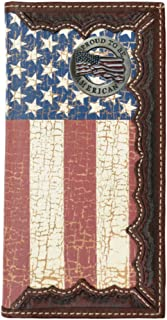 Custom Proud to be American. American Flag Long Wallet with Distressed United States Flag