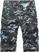 AIEOE Men's Cotton Camouflage Cargo Shorts Loose Fit Multi Pockets Casual Outdoor Work Shorts
