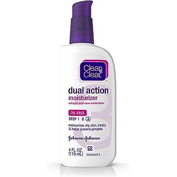 Clean & Clear Dual Action Face Moisturizer, 4 Fl Oz