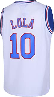 544fef385 Mens Basketball Jerseys  10 Lola Bunny Space Moive Jersey Shirts White Black