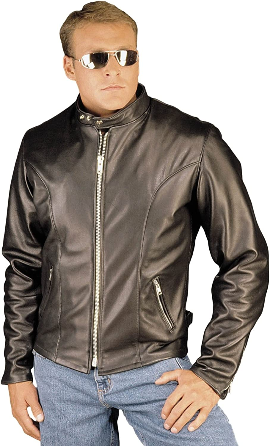 Reed Men S Leather Motorcycle Coat Made In Usa At Amazon Men S Clothing Store