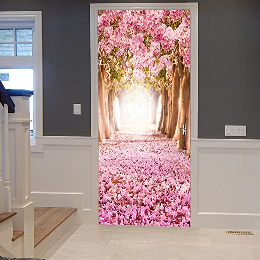 Details about  /3D Home Art Door Self Adhesive Removable Sticker Flowers Jasmine and vanilla