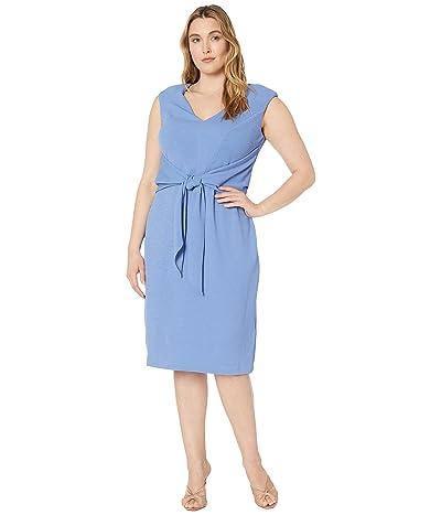 Adrianna Papell Plus Size Rio Knit Draped Tie Sheath Dress (Lavendar Lake) Women