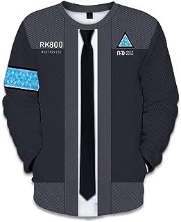 Become Human 3D Print Hoodie Sweater Baseball Jacket Sweatshirt Cosplay Costume