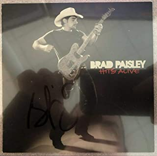 32954a41d72 Brad Paisley Autographed Signed Memorabilia Hits Alive Cd Booklet Beckett  Authentic