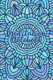 Meditation Notebook: Lined Notebook/Journal with Blue/Purple Mandala