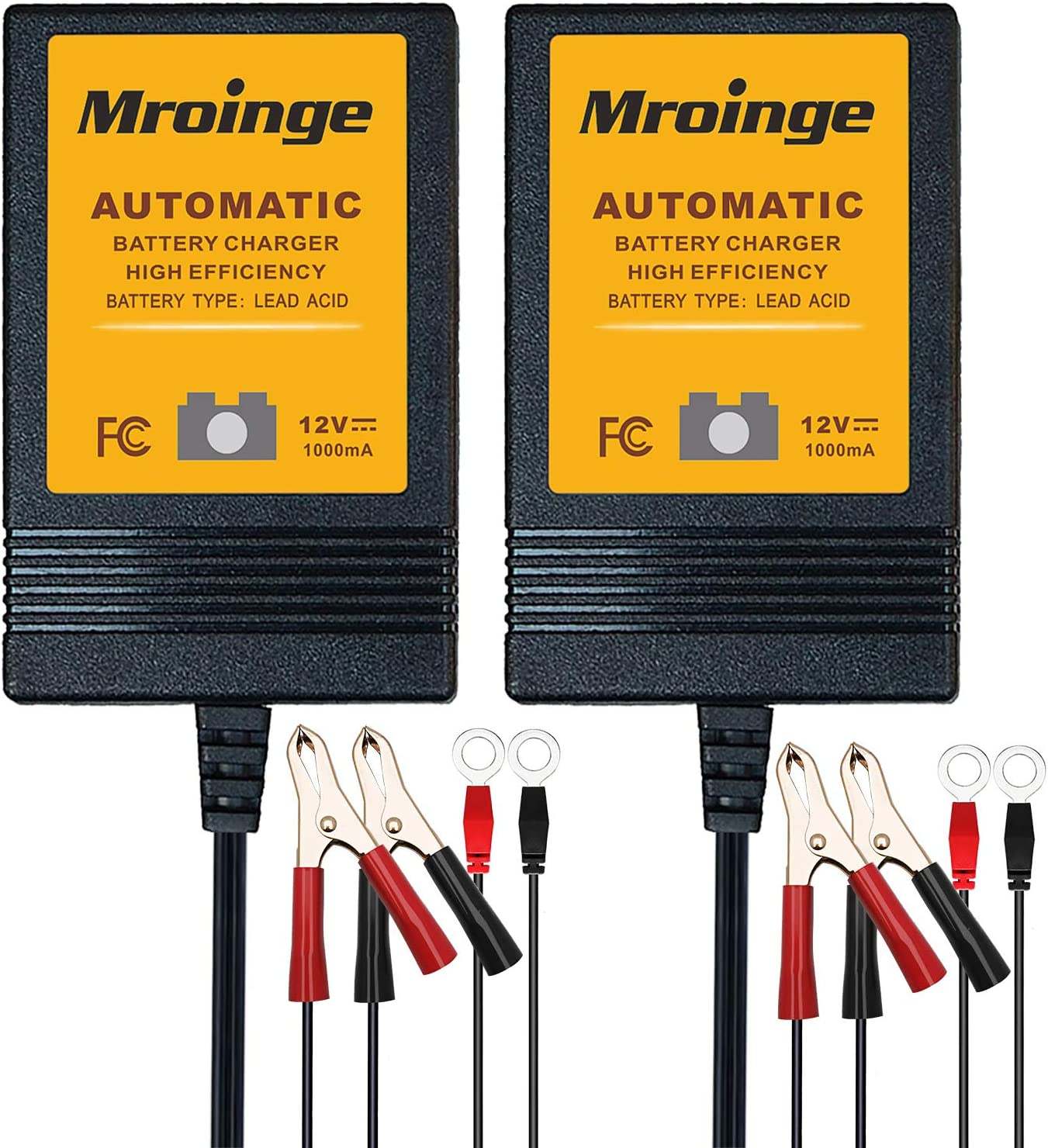 Trickle Charger, Mroinge 12V Automatic Smart Battery Charger and Maintainer,...