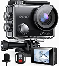 Action Camera, Surfola SF230 4K/30FPS 20MP WiFi,...
