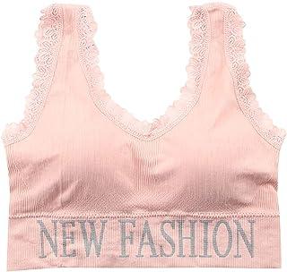 Winkey Mens Lace Bra Wide Shoulder Strap Push Up Underwear Tube Top Classic Bra Without Underwire Breathable Sports Bra Yo...