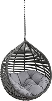 Modway EEI-3637-GRY-GRY Garner Teardrop Outdoor Patio Swing Chair Without Stand, Gray Gray