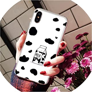 Summer Cute Strawberry Milk DIY Painted Beautiful Phone Case for iPhone 8 7 6 6S Plus X Xs Max 5 5S Se Xr,A11,for iPhone X Or Xs
