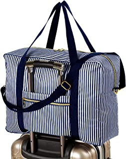 Foldable Travel Bag Water Resistant Travel Duffle Bag with Lining and Shoulder Strap UPGRADE