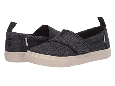 TOMS Kids Aliso Vulcanized (Toddler/Little Kid) (Black Brushed Denim) Kid