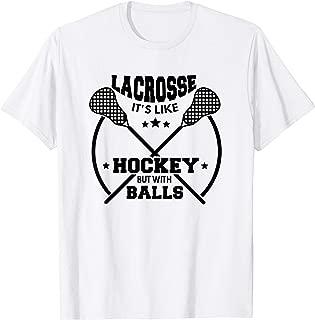 LAX Shirt Lacrosse Shirt Hockey With Balls GOAT Lacrosse