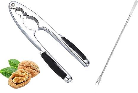Walnut Cracker Nutcracker Shell Seafood Opener Tool Non-Slip Handle Heavy Duty Plier