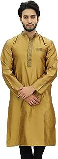 Atasi Men's Band Collor Kurta Dupion Full Sleeve Ethnic Shirt