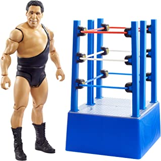 WWE Wrestlemania Moments Andre The Giant 6-Inch / 15.24 cm Basic Action Figure & Wrestlemania Ring Cart with Rolling Wheel...