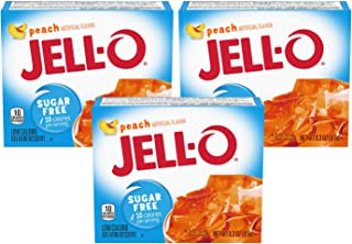 Jell-O Peach Sugar Free Gelatin, 0.3 oz (3-pack)