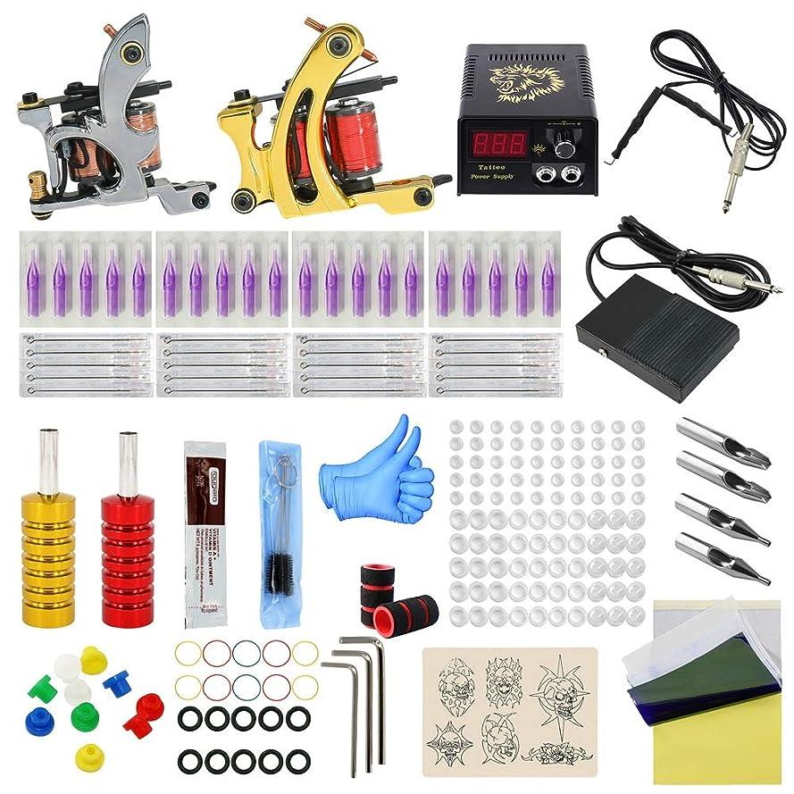 利点空虚細菌初心者タトゥーマシンセットプロフェッショナルタトゥー機器、フルセットのファッションダブルマシンタトゥーセット2タトゥーマシン20タトゥーニードル