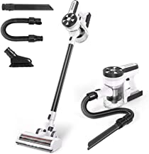 MOOSOO Cordless Vacuum Cleaner, Ultra-Powerful Suction Stick Vacuum with 3Hrs Fast Charging Quiet Lightweight 5 in 1 Handh...