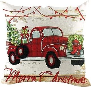 JustWin Christmas Linen Pillowcase Decorative Sofa Cushion Cover Snowflake Sofa Cushion Cover Home Decoration