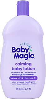 Baby Magic Calming Baby Lotion | 16.5oz | Lavender & Chamomile | Free of Parabens, Phthalates, Sulfates and Dyes