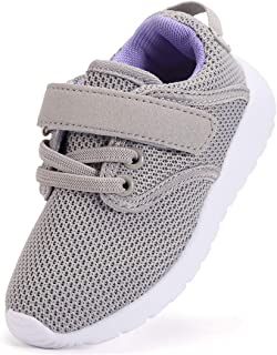 DADAWEN Boy's Girl's Casual Light Weight Breathable Strap Sneakers Running Shoe