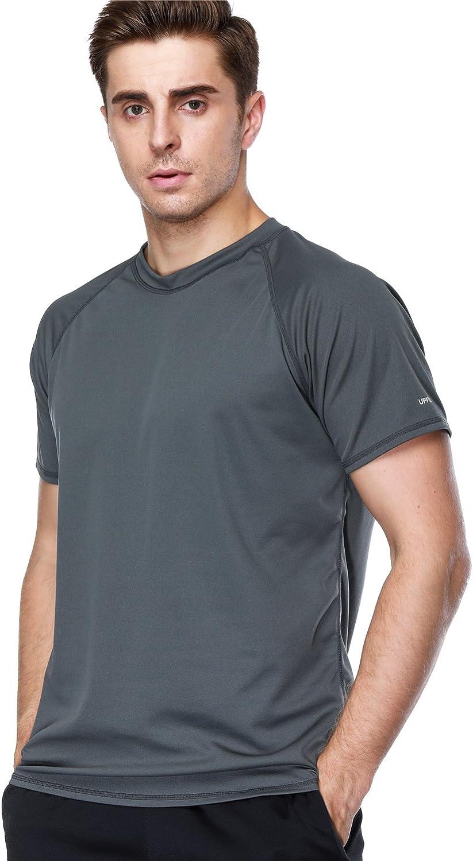 ANFILIA Men's Rash Guard Short Sleeve Import Sportwear Latest item Swim Shirts Loos