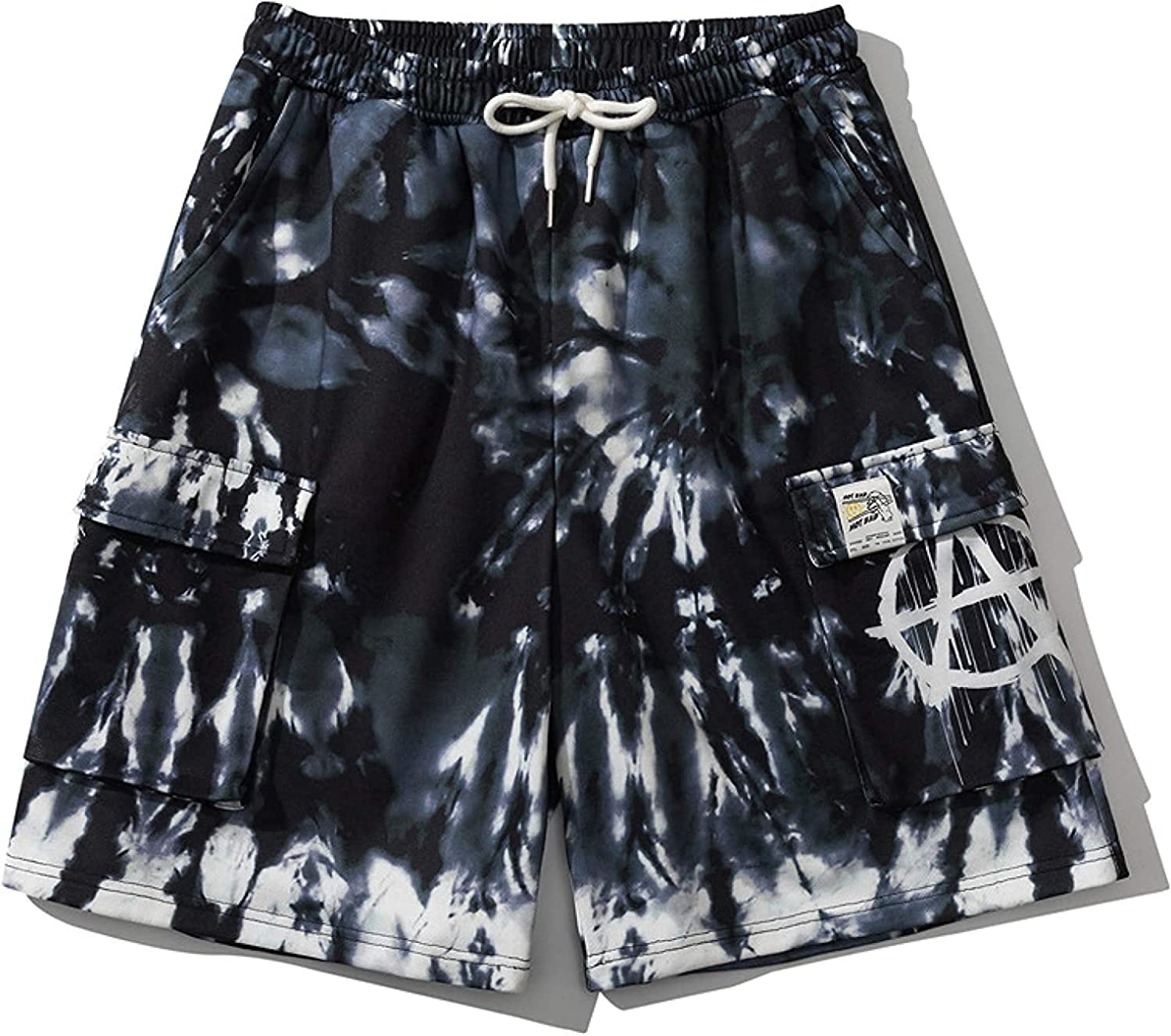Men's Relaxed Tie-dye Printed Cargo Shorts Fashion Trend Streetwear Comfortable