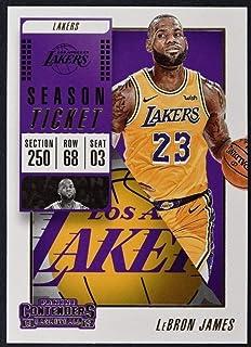 c01753ce7c45 2018-19 NBA Contenders Season Ticket  30 LeBron James Los Angeles Lakers  Official Basketball
