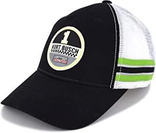 Kurt Busch 2019 Vintage Patch Mesh NASCAR Hat Black, White