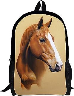 Horse Backpack for Boys Vintage School Bag Animal Summer Shoulder Bag Teens Girl