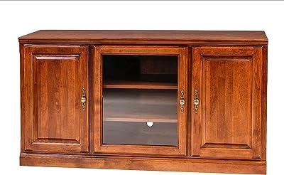 Amazon Com Leick Furniture Chocolate Cherry And Bronze Glass 60 W