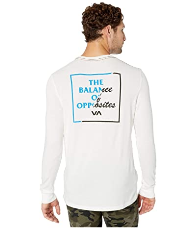 RVCA Teared Long Sleeve (Antique White) Men