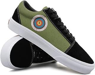 YCFTA Green Snake Skin Womens Casual Sneakers Shoes Flat Lo-Top Nursing Simple