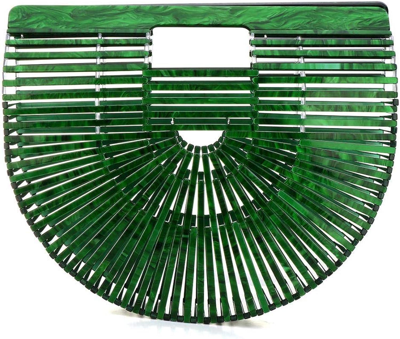 Womens Acrylic Ark Clutch Purse Bag Fashion Ark Handbag Large Tote Bag Summer Beach Bag for Travel Beach Shopping (Green)