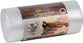 Kitchen Helpis® rollo de plastico burbujas de alta calidad de 0,4 x 10m (72 µ de grosor), ideal como película de embalaje para porcelana y objetos frágiles, película de amortiguación