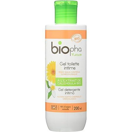 Biopha Nature – Gel Toilette Intime – Extrait de calendula bio & fleur d'oranger bio, flacon de 200 ml