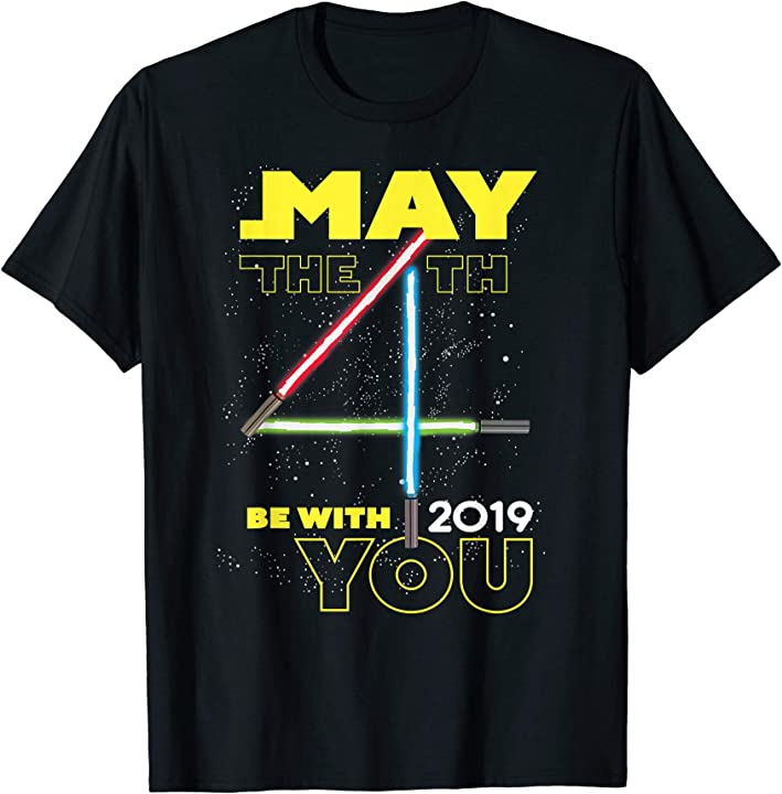 May The Fourth Be With You 2019: Star Wars May The 4th Be With You 2019 Lightsabers T-Shirt