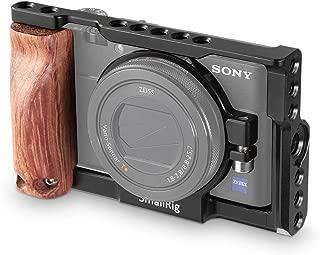 SmallRig Sony RX100 III IV V専用ケージ DSCRX100 M3 / M4 / M5対応ケージキット 木製ハンドル装備 NATOレール装備 Arriアクセサリーピン装備-2105