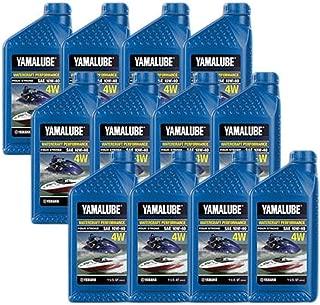 Yamaha Yamalube WaveRunner Jet Boat Engine Oil Case 12 of Quarts LUB-10W40-WV-12