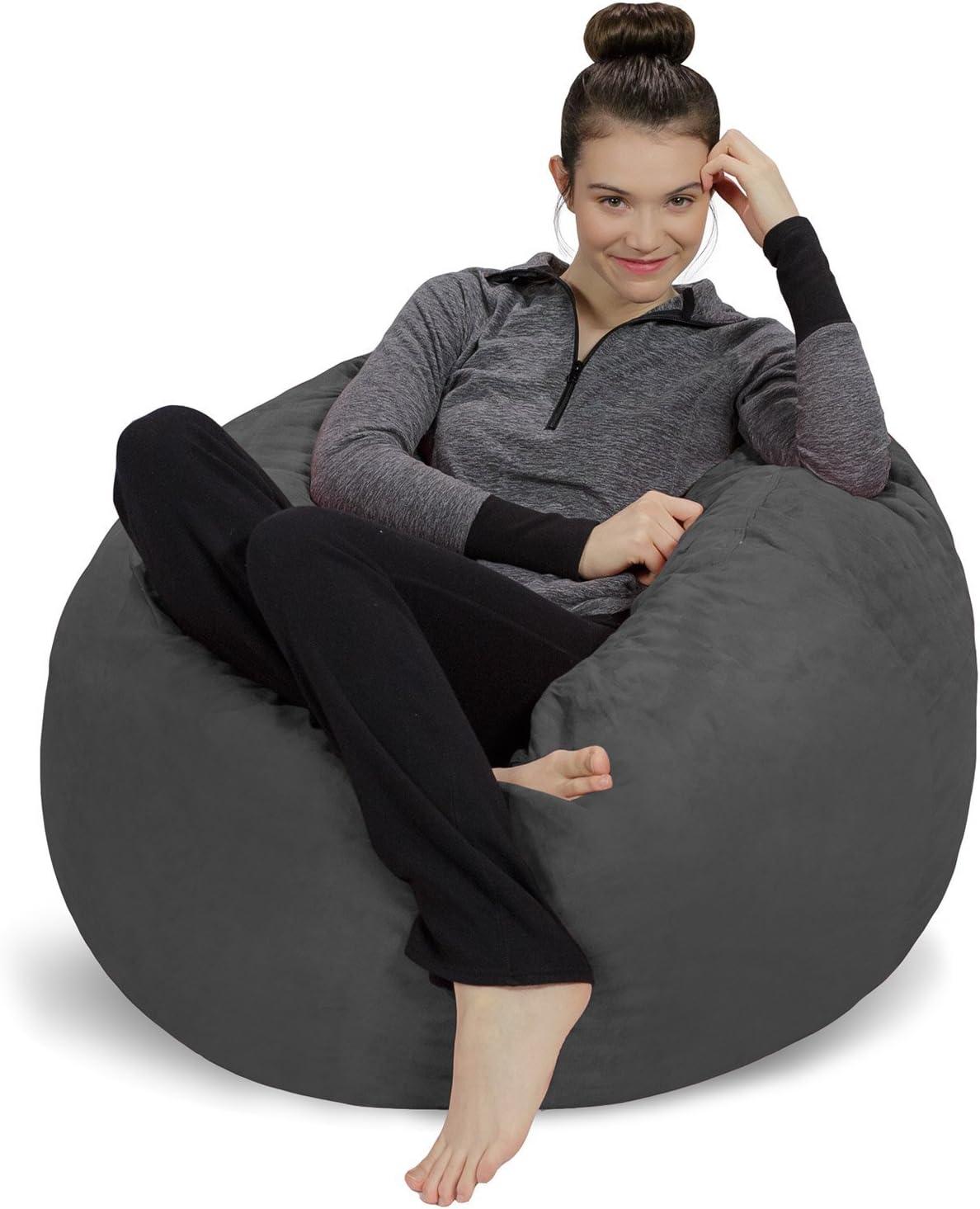 4. Memory Foam Bean Bag Chair