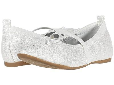 Nina Kids Esther-T (Toddler/Little Kid) (Off-White Embossed) Girls Shoes