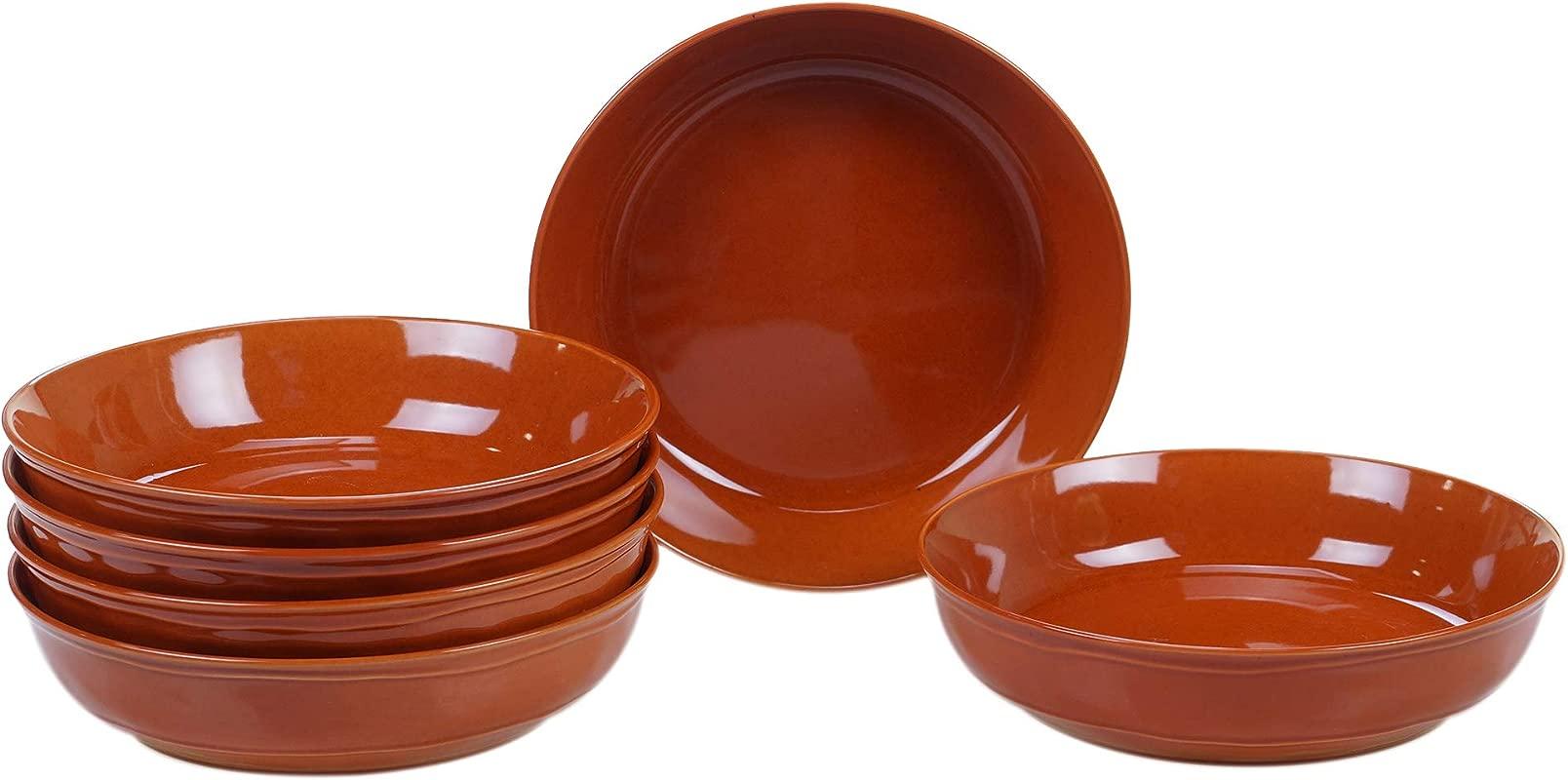 Certified International 22764SET6 Autumn Fields Orbit Pumpkin 8 5 Soup Pasta Bowl Set Of 6 One Size Mulicolored