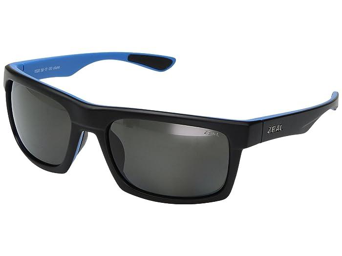 Zeal Optics  Drifter (Matte Black Azue with Polarized Dark Grey Lens) Sport Sunglasses