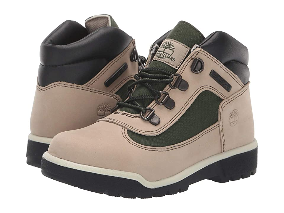 Timberland Kids Fabric/Leather Field Boot (Little Kid) (Faded Sand) Kids Shoes
