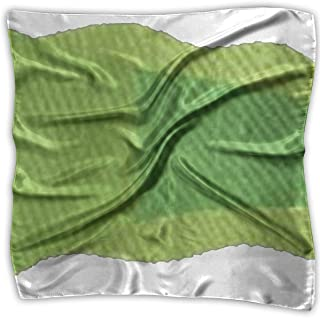 Green Tadpole Women Small Mixed Square Scarf Neckerchief Hair Scarves S M O4S8C767