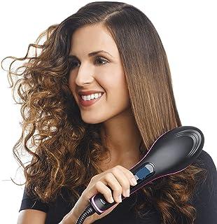 FLOWMEX Hair Electric Comb Brush 3 in 1 Ceramic Fast Hair Straightener For Women's Hair Straightening Brush with LCD Scree...