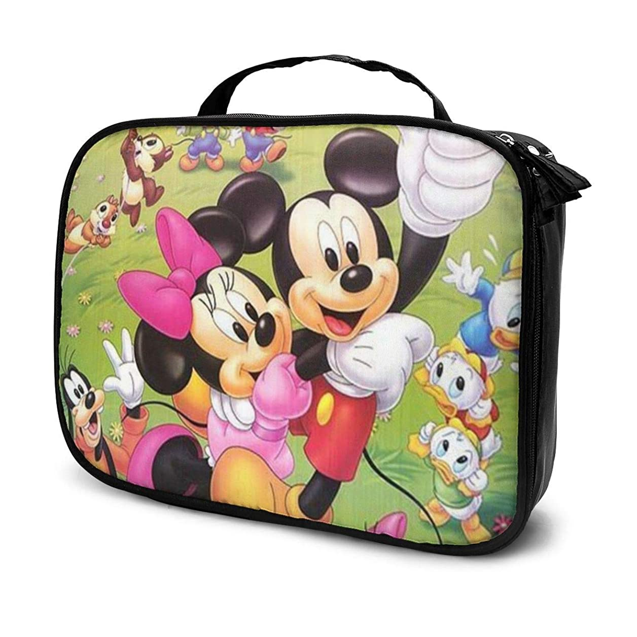 回答少なくともスキーDaituミッキーと仲間たち 化粧品袋の女性旅行バッグ収納大容量防水アクセサリー旅行